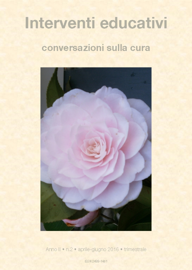 Cover Interventi educativi 2-2016 / La Memoria