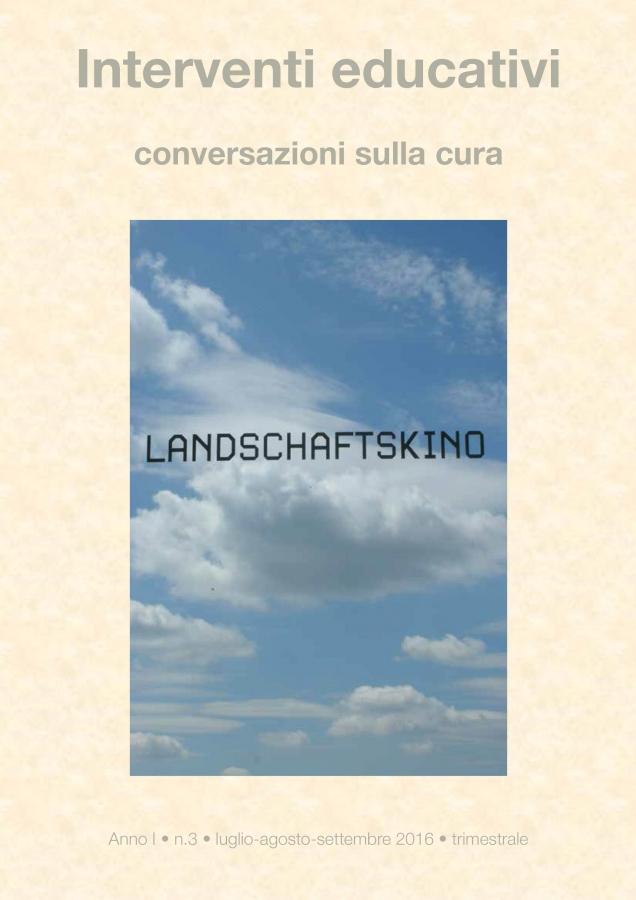 Cover Interventi educativi 3-2016 / Il Paesaggio